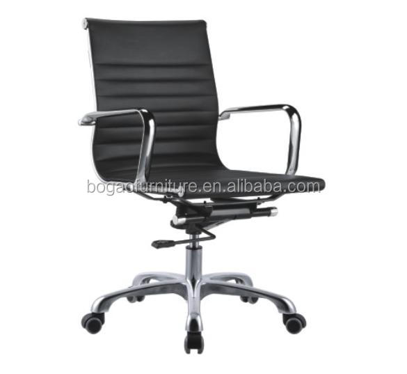 2015 the hot sale fashion mid back black leather office <strong>chair</strong> B83