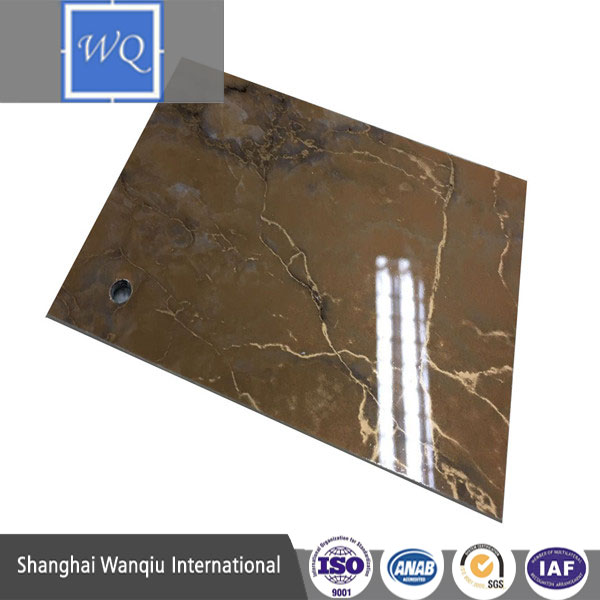 High Gloss Marble Designed MDF / Fiberboard Laminated with PVC Film
