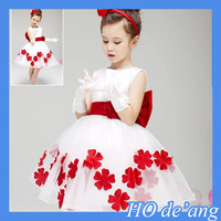 HOGIFT Flower children girl dress,Wholesale children's boutique clothing Girls Dresses In stock items, Girls Wedding Dresses