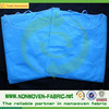 Blue color medical sms non woven fabric roll/hydrophobic non-woven smms fabric for baby diaper or surgcial gown