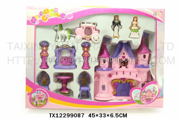 Kids Indoor Toys Happiness Villa/Castle/House with Furniture/Dolls