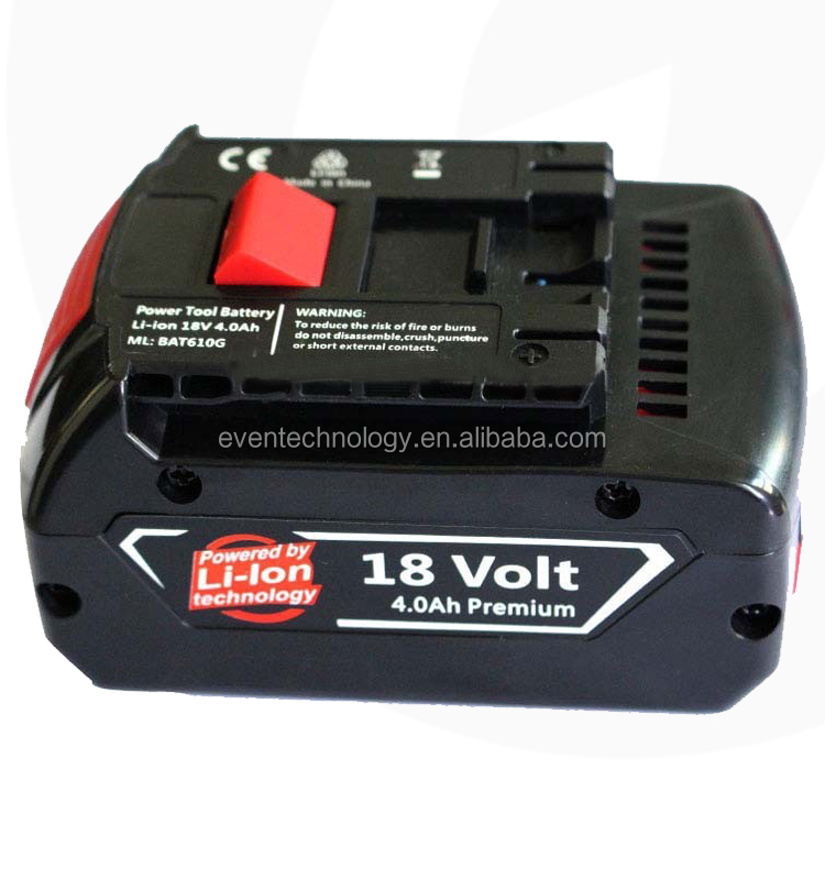 18V 4.0Ah li-ion power tool battery for BOSCH (Li-ion 18650*10) used for 2 610 909 020, BAT025,BAT026,BAT160,BAT180,BAT181
