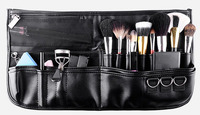 High Quality Black Professional Makeup Belt Bag Makeup Bag Cosmetics Case Waist Brush Bag For Men Artist