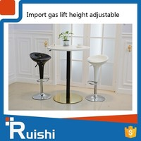 Gas lift cast iron bar table base for multitouch interactive bar table