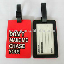 personality plastic luggage tag holder