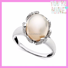wholesale bead jewelry silver pearl ring,wedding ring