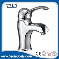 2016 Chinese economic hot sale brass wash basin faucets Single handle curved basin faucet mixer chromed garden taps