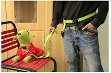 green New Buddy System Hands Free Nylon Pet Dog Leash Lead Running Jogging Hiking Training Walk for Dogs 7 Colors