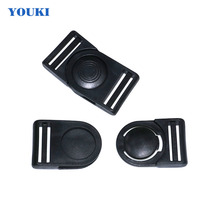 Safety 38mm round shape spacial luggage plastic belt strap adjustable release buckle with good price