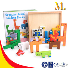 3d creative animal jigsaw puzzle wooden building blocks toys early educational gifts for children