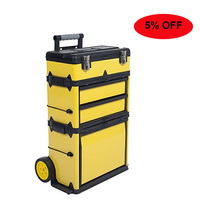 GD2096 Metal material trolley wheels tool box Drawer-style storage tool box