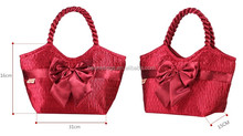 China manufacture hot trend fancy satin lady fashion handbag