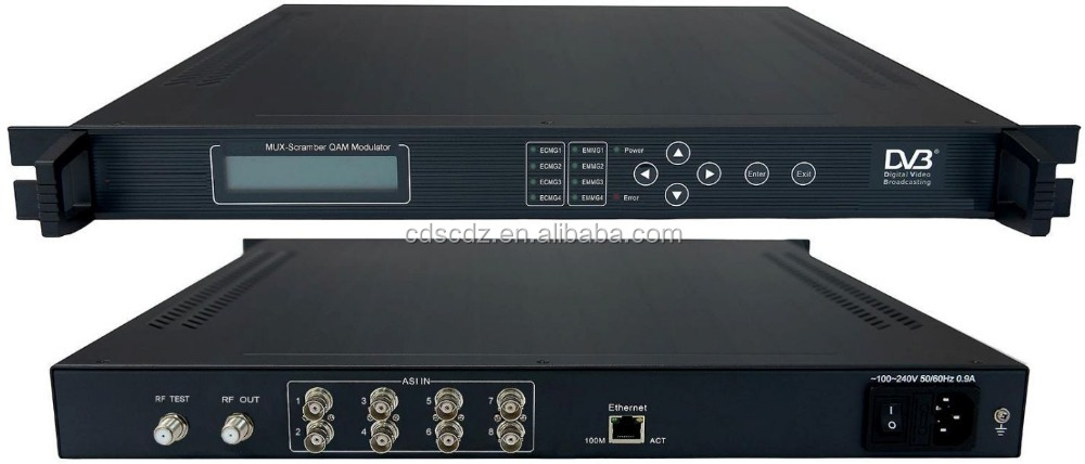 cable tv rf tv channel modulator (8*ASI IN,4*DVB-C RF out)