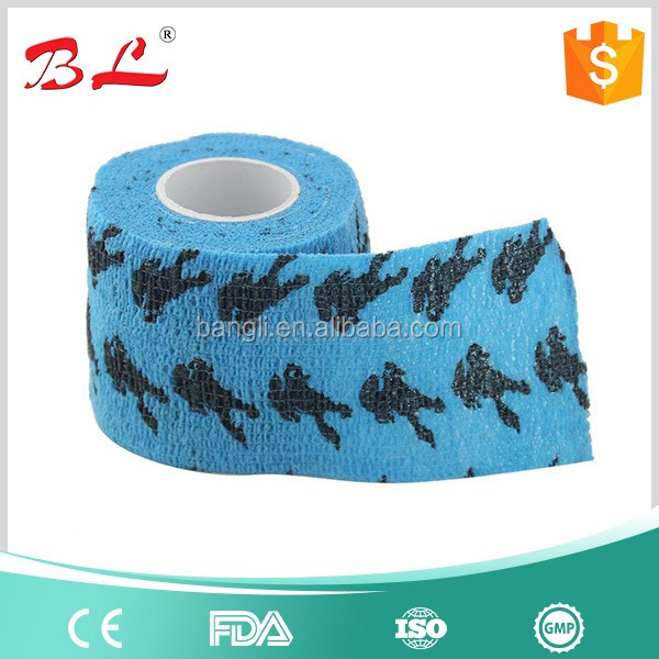 For Horse Elastic Cohesive Printed Vet Wrap Bandage