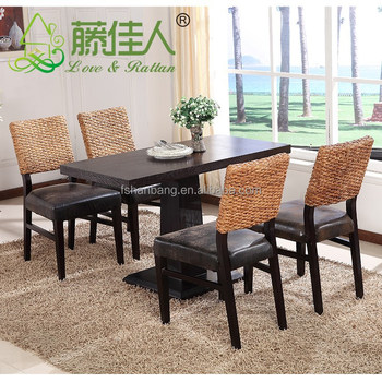 seagrass dining set with pedestal base