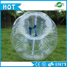 2016 Hot sale! rubber bouncing balls, bubble ball suit, football inflatable body zorb ball