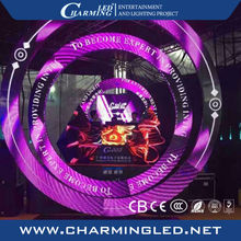 Stage backdrop design circular led display screen stage background led video wall