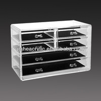 Acrylic Makeup Organizer Display Type Boxes Case, Acrylic Cosmetic Organizer Drawer Case