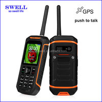 Walkie talkie android phone functional mobile phone dual sim SOS GPS Bluetooth rugged cell phone IP67 supports walike talkie X6