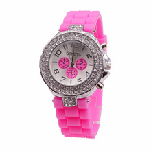 China factory Fashion silicone diamond watches for men and women