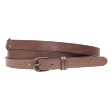 Grain Tanned Leather Double Wrap Belt for Lady / Leather Belt Wholesale with a Final Discount