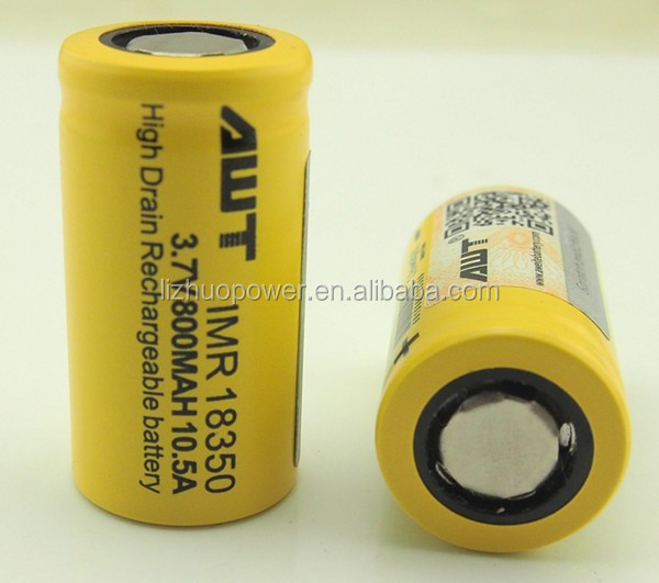 Wholesale AWT 18350 800mah 10.5A 3.7v rechargeable 60 volt lithium battery segway x2 for sale