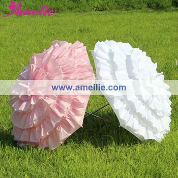 A0252 So Pretty Flower Girls Umbrella Frill Umbrella Wedding Favors