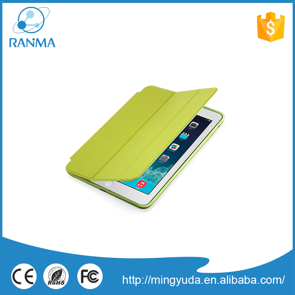 Newest folding flip stand pu leather stand case for ipad mini