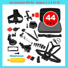 SHOOT Go Pro Camera Accessories 44-in-1 for GoPros Bundle Accessories Kit Set for GoPro 5 4 3+/3 2 1 Sj4000 XiaoYi Camera