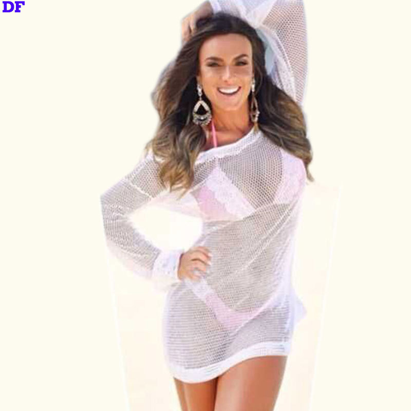 07b8a474755d5 Buy Mesh Sexy Summer Style Swimwear Fashion 2015 Beach Cover Up Sheer Beach  Summer Dress Plus Size XL Swimsuit Cover Up For Bikini in Cheap Price on ...