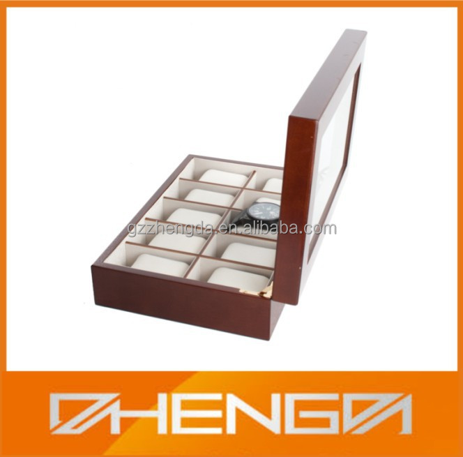 Hot sale customized made-in-china wood watch box case (ZDW-J008)