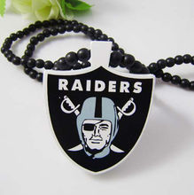 RAIDERS Natural Wood Pendant Replica Necklace Piece All Wood