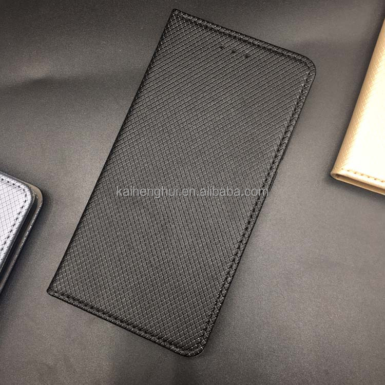 Grid pattern magnetic suction close up mobile phone flip case for Xiaomi Redmi 4A 3 Note 3 Note 5A Prime