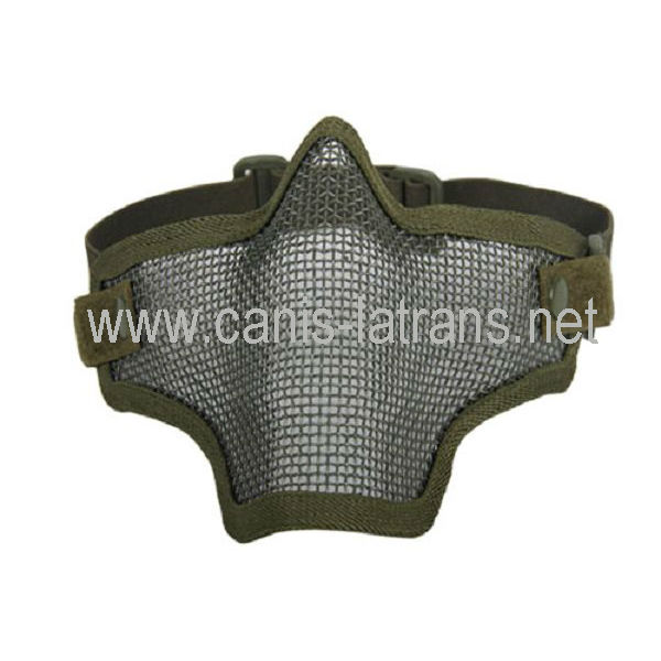 safety air soft protective Half Face Mask with Strike Steel Mesh,shooting tactical paintball equipment