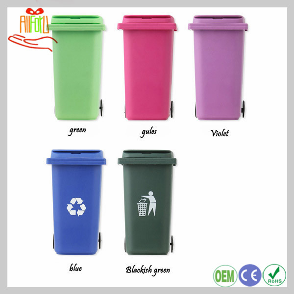 Plastic Trash Pen Holder Recycle Bin Pen Holder Trash Can Pencil Container