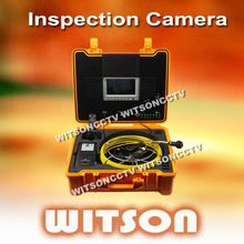 WITSON waterproof video borescope pipe inspection camera with 12 LEDs
