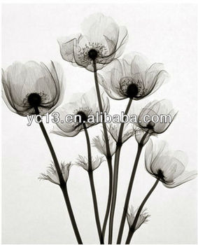 The most popular canvas black and white flower painting ZZ-0500