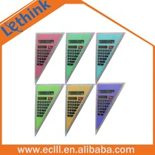 Triangle shape student calculator with ruler