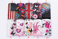 New flag Flower Flip Leather case For Samsung Galaxy S4 S IV i9500