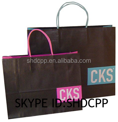 promotional good quality plastic coated kraft paper bag wholesale