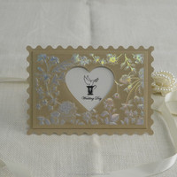 Laser cut paper heart shaped wedding invitation card wedding greeting cards wholesale wedding invitations IC1601-14