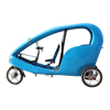 Commercial 3 Wheel Passenger Electric Assisted Tricycle Velotaxi, Beach Cruiser Electric Pedicab Rickshaw