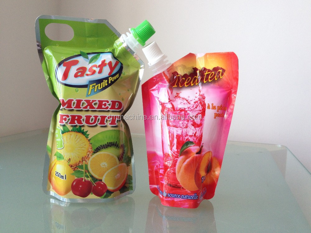 Semi automatic stand up pouch fruit juice packaging machine