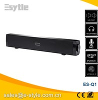 USB powered Audio 2.0 Channel Sound bar for TV / IPAD / Tablet / PC, AUX Line-in Mini Sound Bar