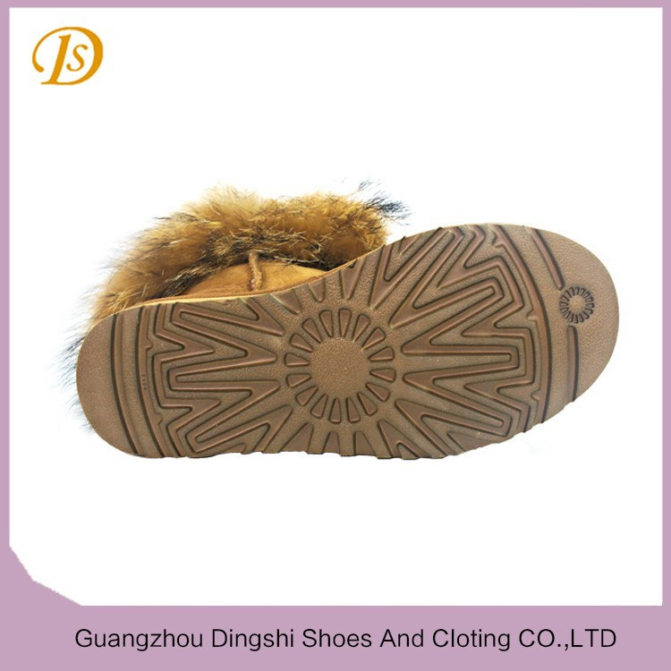 guangzhou boots genuine Sheepskin ankle boot Canadian
