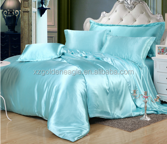 100% silk luxury bedding set/handmade indian bedsheets buy from china