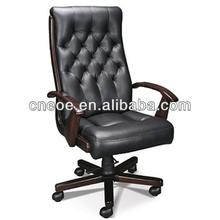 Button tufted luxury leather office chairs