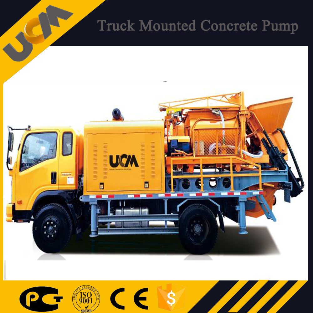 New concrete machine, small concrete mixer pump,truck mounted concrete pump