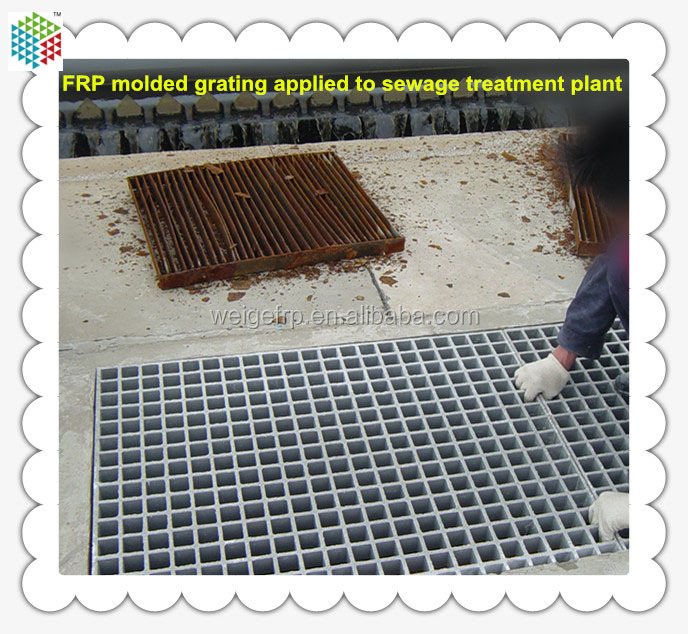 Steel grating Substitute High strength fiberglass molded sewer grate