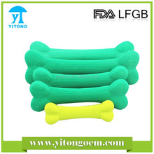 2016 hot sales silicone FDA standard dog chew toy /dog bone toys